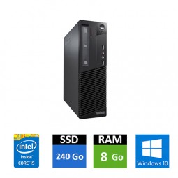 Lenovo Thinkcentre M73 - Core i5 - 8 Go RAM - SSD 240 Go