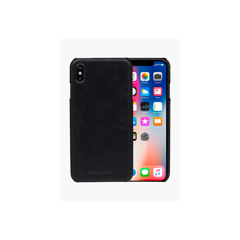 Coque Cuir Apple iPhone XS Max - Noire