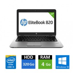 HP EliteBook 820 G2 - Core i5 - 4 Go RAM - 320 Go HDD